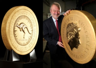 В Москву привезут самую большую золотую монету в мире