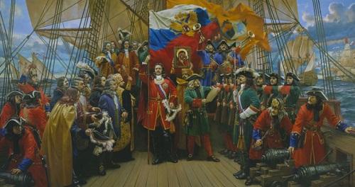 Петр I, «отец» российского триколора
